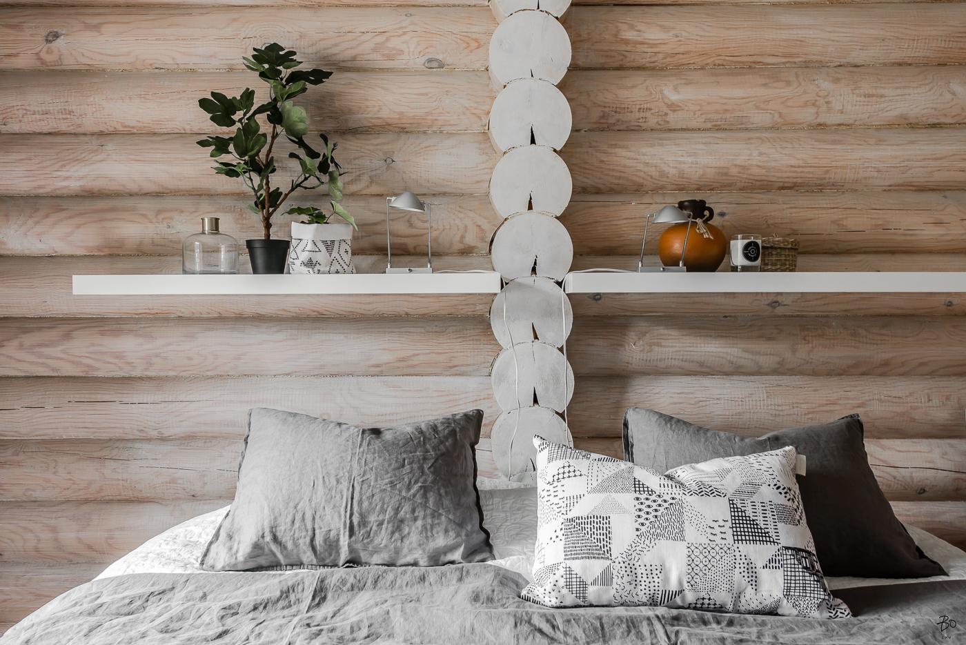 Maison écoresponsable en rondins de bois