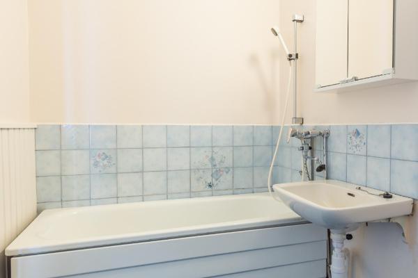 Kylpyhuoneessa amme