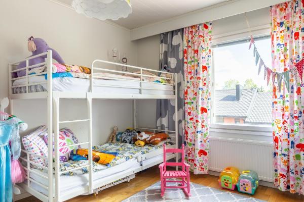 Lastenhuone, jossa myös vaatehuone