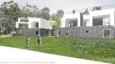 Näkymä rantaraitilta, vasemmalta alkaen G-, H-, I-talot