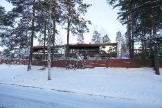 Talvinäkymä Soukan rantatieltä katsottuna