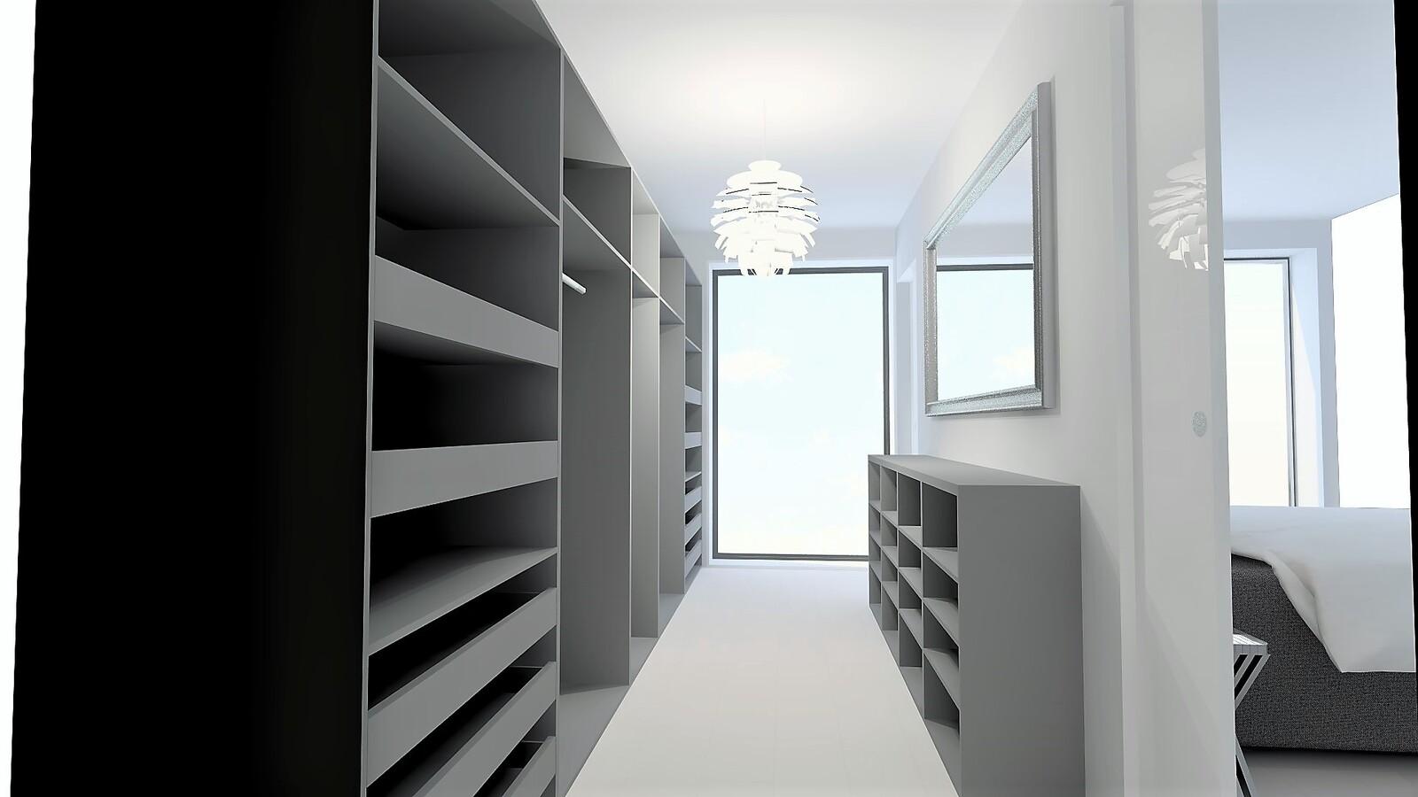 Unelmien vaatehuone, jossa kaikelle on oma paikkansa. title=