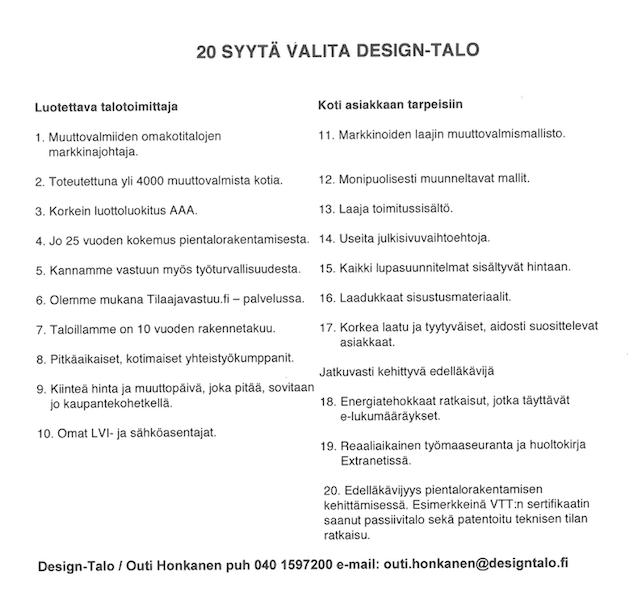 20 syytä valita Design-Talo title=