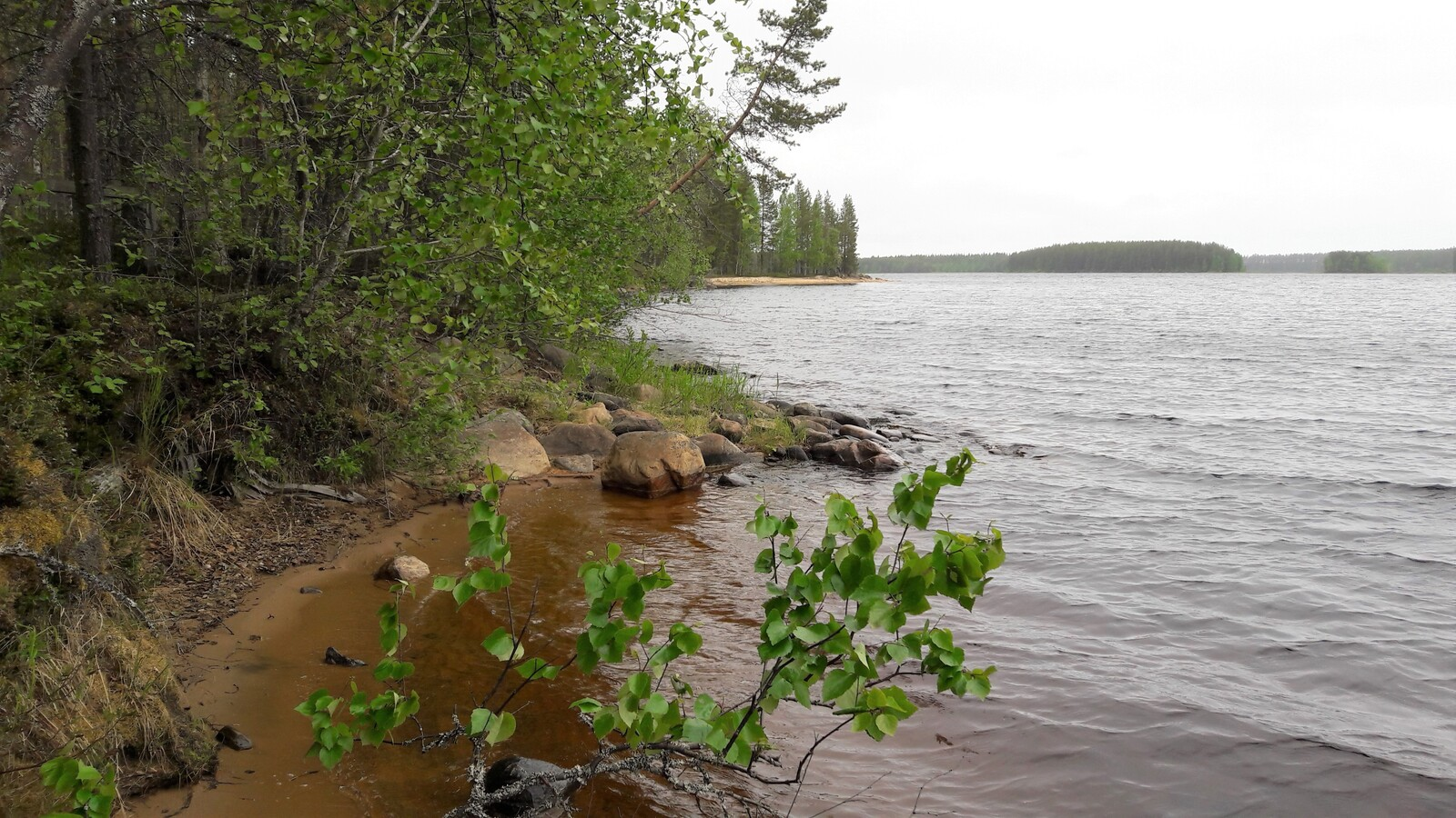 Nurmesjärven hiekkarantaa