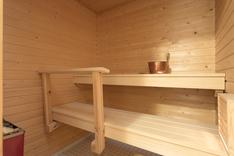 Hyväkuntoinen lähes käyttämätön sauna.