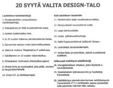 20 syytä valita Design-Talo