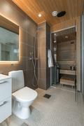 Yläkerran sauna/pesutila