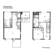 Olohuoneen ja keittiön voi yhdistää yhtenäiseksi tilaksi.
