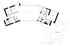 Päärakennuksen ja uima-allasosaston pohjakuva
