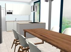B-talon keittiön värimaailmaa.