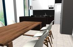 A-talon keittiön värimaailmaa.