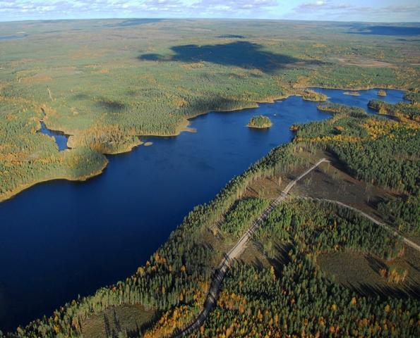 Vihajärvi, etualalla kortteli viiden tontit